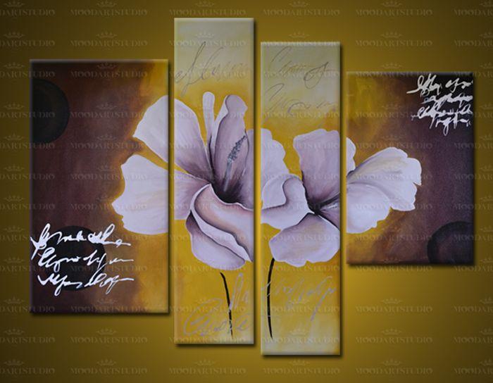 cuadro flores moderno