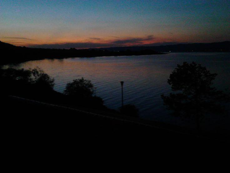 Lake Volvi at sunset..
