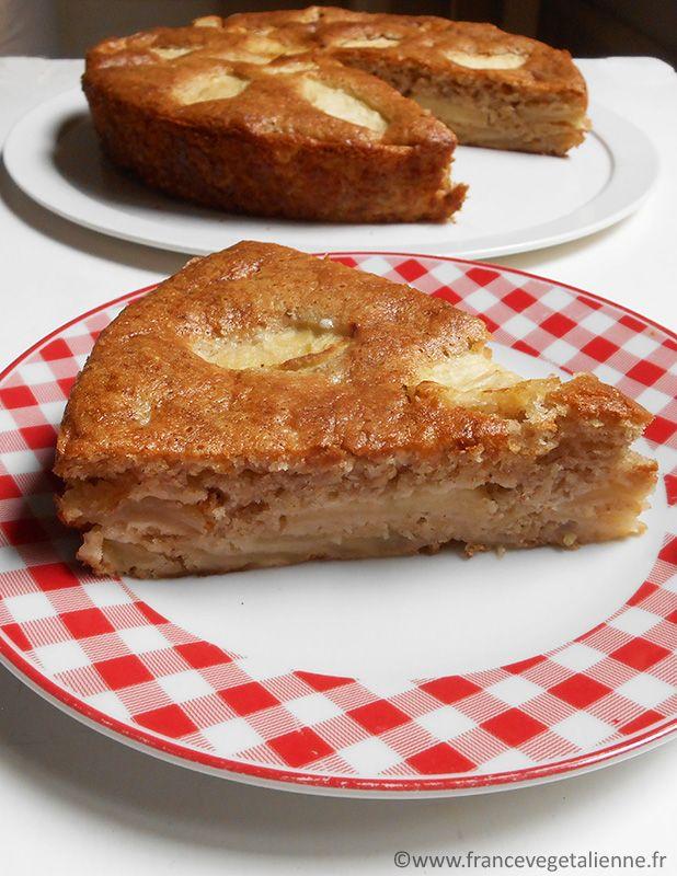 Gâteau normand aux pommes (recette végane)