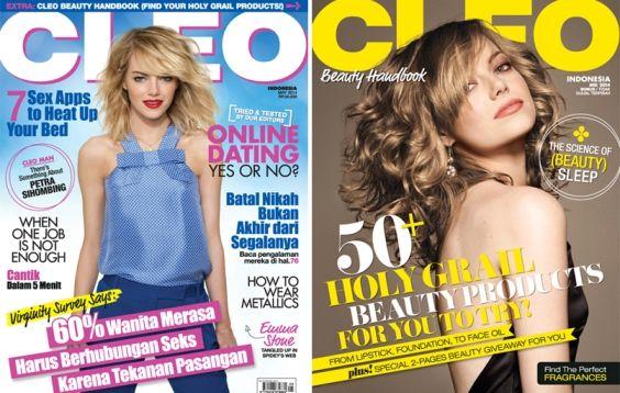 CLEO Indonesia May 2014 + bonus Beauty Handbook - #EmmaStone