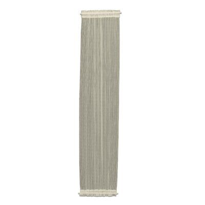 August Grove Arles Sidelight Striped Sheer Rod Pocket