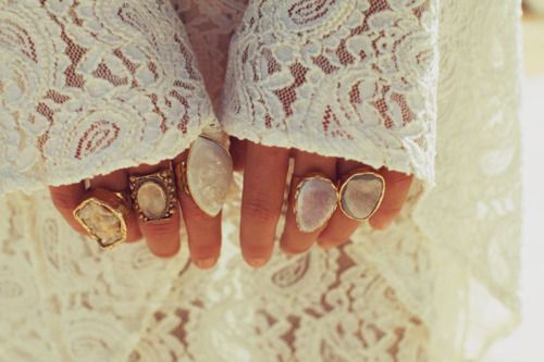 Crystals, Fashion, Style, Fingers, Nature Stones, Planets Blue, White Lace, Accessories, Gemstones Rings