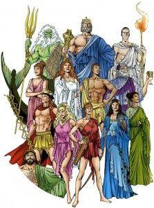 Roman gods: Zeus, Apollo, Electra, Poseidon, Hades, Aphrodite, Athena , Hera, Hercules.