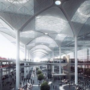 """Grimshaw+unveils+""""world's+largest+airport++terminal+under+one+roof""""+for+Istanbul"""