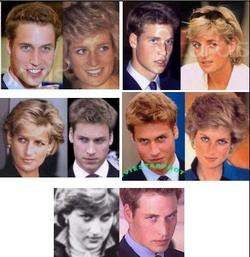 The similarity of Prince William and Princess Diana