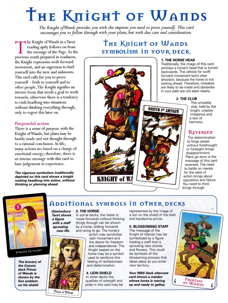 The knight of wands