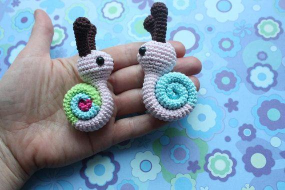Amigurumi Snail PATTERN - Crochet Pdf Tutorial - Downloadable Crochet Tutorial $3.90