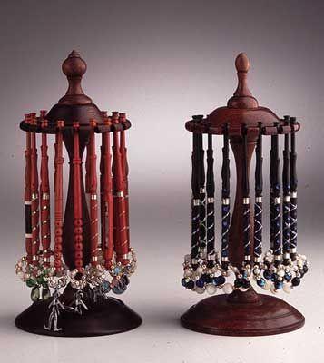 What beautiful bobbin display holders. Elisabeth van Trierum