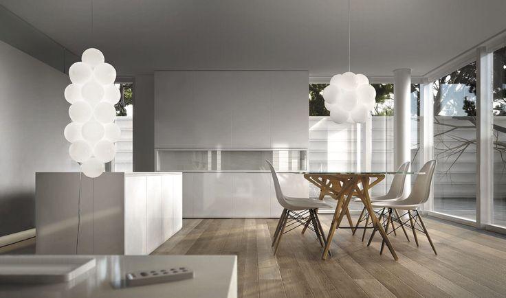 Pendant lamp / original design / glass - BABOL by Nicola Grandesso - de Majo Illuminazione