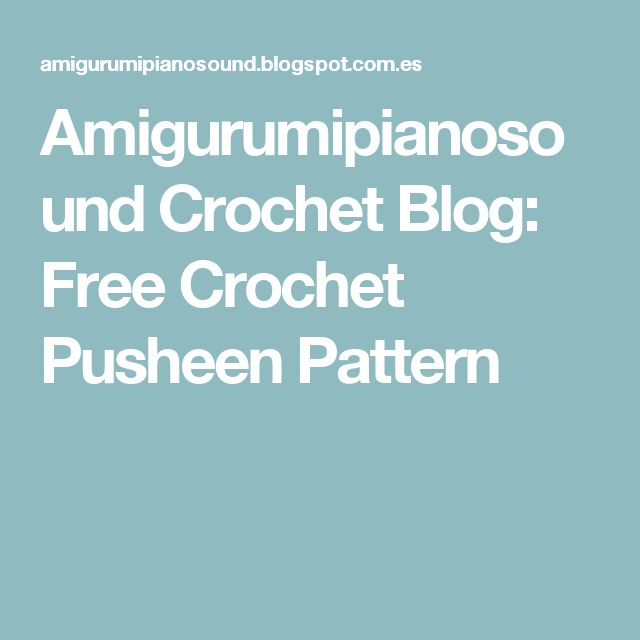 14 mejores imágenes en Pusheen en Pinterest   Gatos, Patrones de ...