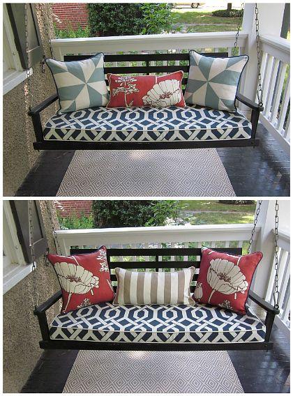 Best 25 Porch Swing Cushions Ideas On Pinterest