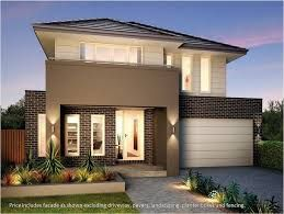 fachadas de casas de dos plantas pequeñas -