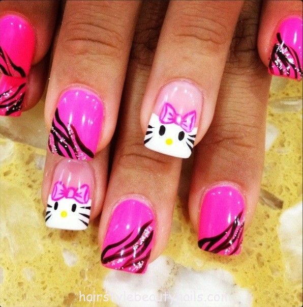 hello kitty nails art design picture image photo beauty (5) www.hairstylebeau...