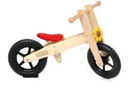 Der ideale Einstieg für kleine Abenteurer: Das höhenverstellbare Holzlaufrad von BEEBOO.