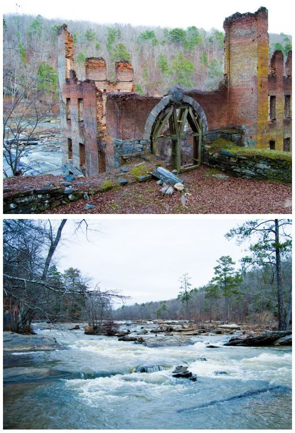 "Explore Civil War ruins and ""The Hunger Games"" filming locations at Sweetwater Creek State Park in Lithia Springs, Georgia."