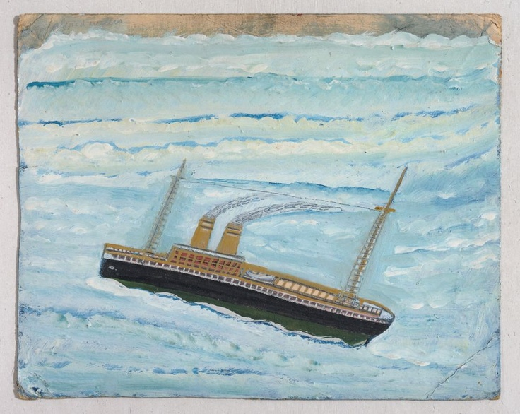 Alfred Wallis P ship, n.d. Painting, Oil on card 308 x 388 mm