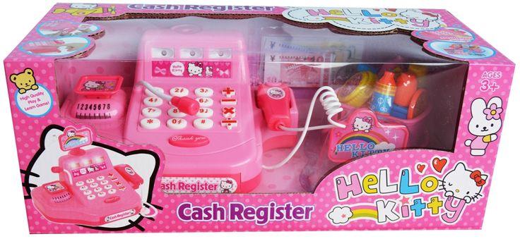 Mini Cash Register Hello Kitty - http://grosirmainananakku.com/mini-cash-register-hello-kitty/ Mini cash register dengan karakter hello kitty untuk anak yang suka bermain kasir-kasiran di lengkapi music & lampu, scan barcode yang bisa bunyi dan lampu menyala, timbangan dan ada laci mesin uang yang bisa kebuka bila ditekan open.  Dilengkapi dengan uang mainan & keranjang belanjaan. Menggunakan batre AA  Dimensi 30 x 14 x 12  #MiniCashRegisterHelloKitty