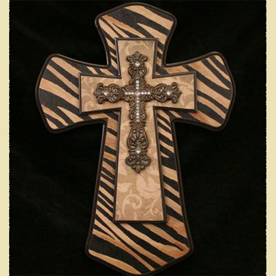 painted wood cross
