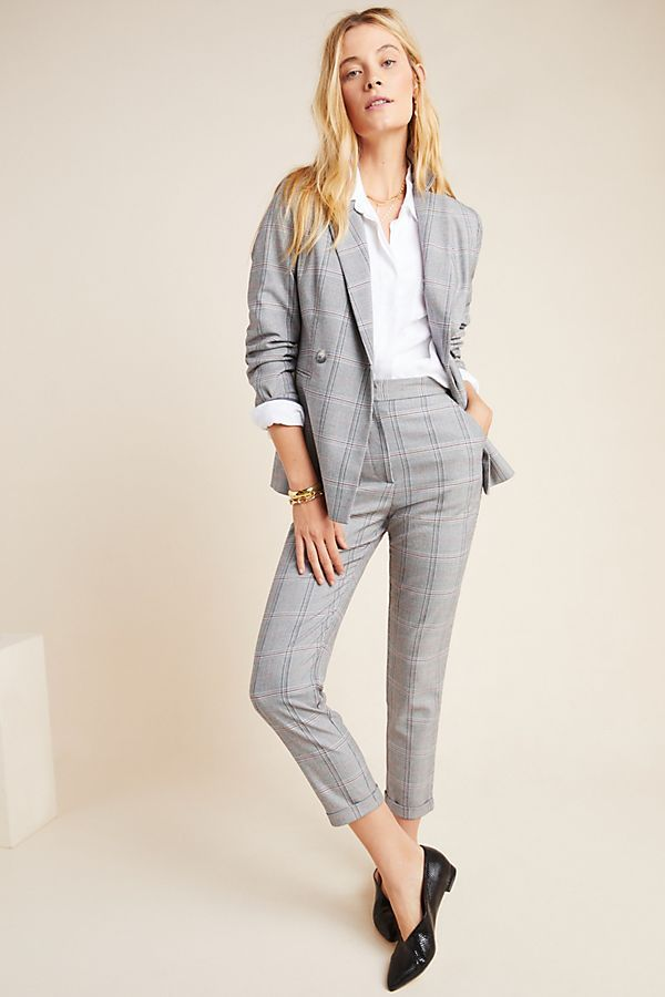 Suffolk Slim Plaid Trousers by Seen Worn Kept in Assorted Size: 6, Women's Pants at Anthropologie