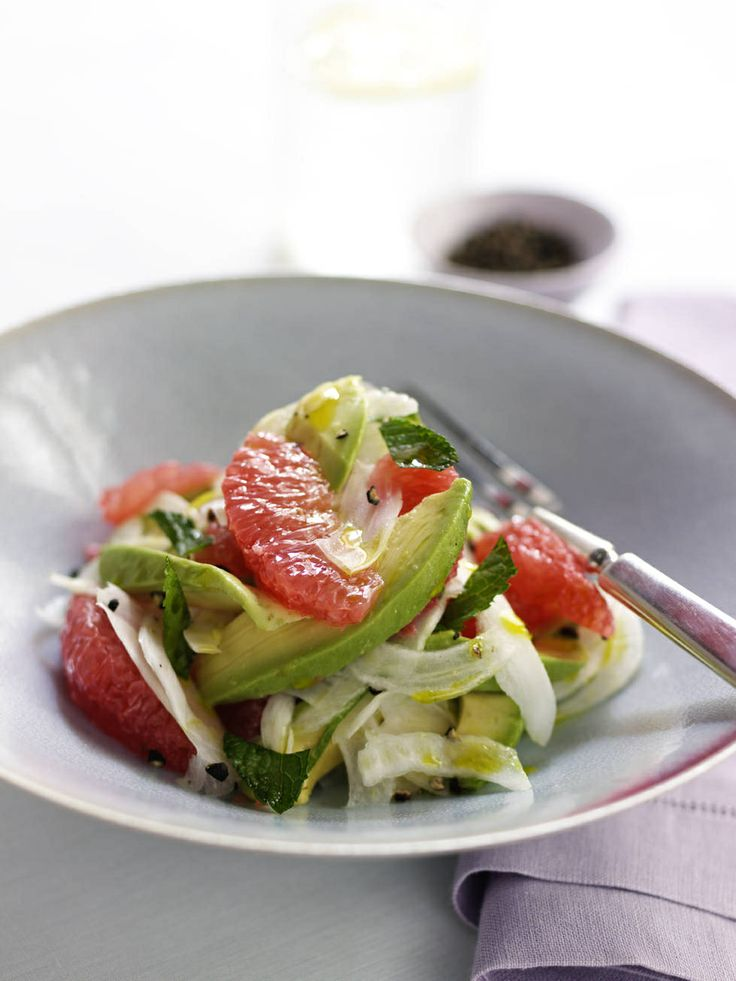#RawFood Grapefruit Avocado Fennel Salad