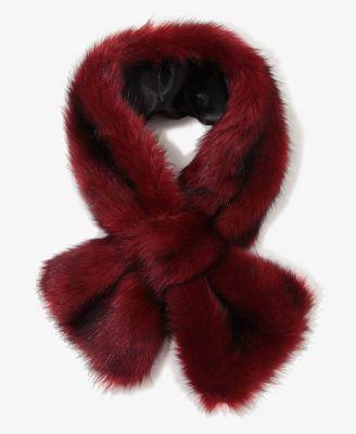 Wine colored faux fur--Gorgeous ♥
