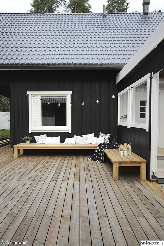 53 best images about black white blue white houses on - Exterior wood paint black ...