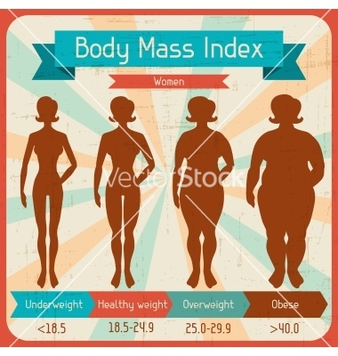 Body mass index retro poster vector 1271211 - by incomible on VectorStock®