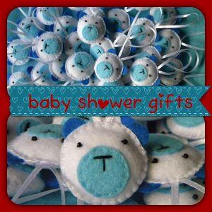 Baby shower gifts – felt handmade bears