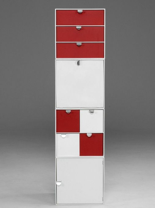 Ratia Ristomatti; Modular Storage of Lacquered Wood and Metal by Palaset, 1970s.