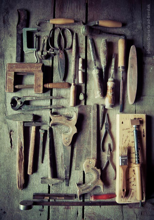 Vintage tools...I love the smell of old tools!  Reminds me of both my mom and my grandfather!