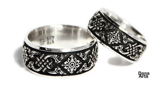 Matching wedding bands by DanaArts for $250.00
