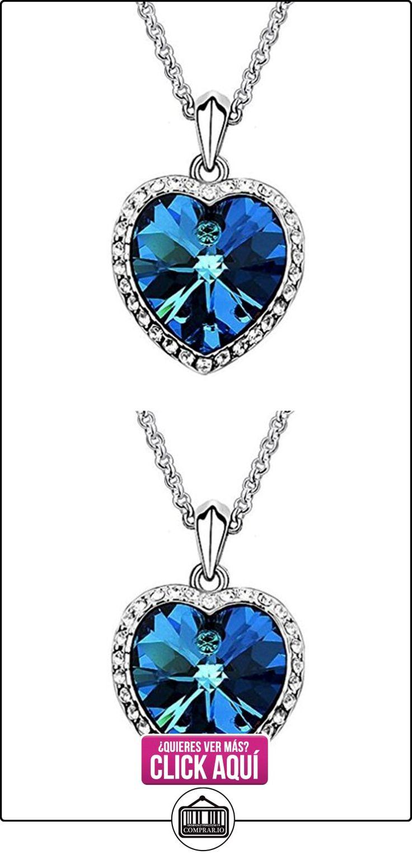 Yazilind Collar Gargantilla declaración elegante plateado plata del azul real de cristales de mar Corazón Colgante Babero para Mujeres  ✿ Joyas para mujer - Las mejores ofertas ✿ ▬► Ver oferta: http://comprar.io/goto/B01LCT5XOU