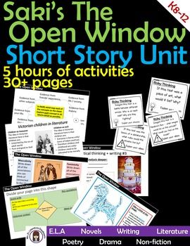 an analysis of the short story the open window by saki The interlopers a short story by saki  it was an open winter, and little snow had fallen as yet, hence the captives suffered less from the cold than.
