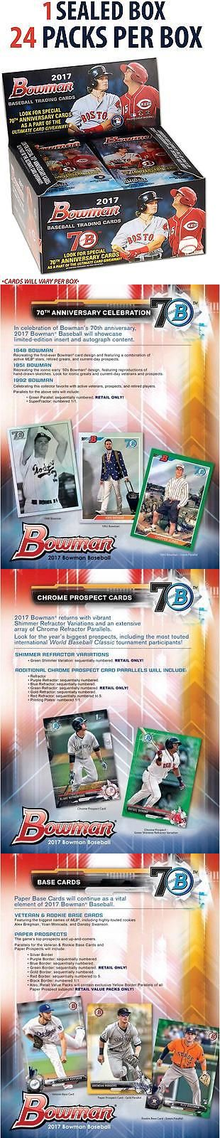 Baseball Cards 213: 2017 Bowman Baseball Factory Sealed 24 Pack Box Fanatics Authentic Certified -> BUY IT NOW ONLY: $69.99 on eBay!