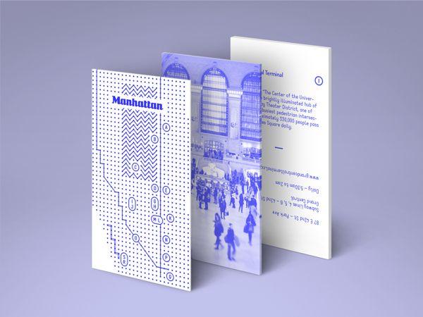 New York City Map by Paloma Avila, via Behance