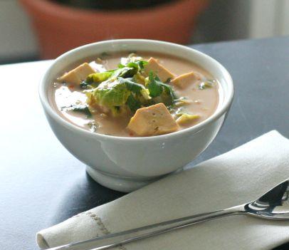 Zesty Coconut-Lime & Tofu Soup #EZTofuPress
