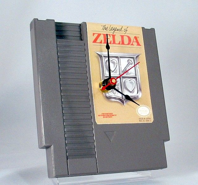 Zelda NES Cartridge Clock  This is a must get for any gamer!!!