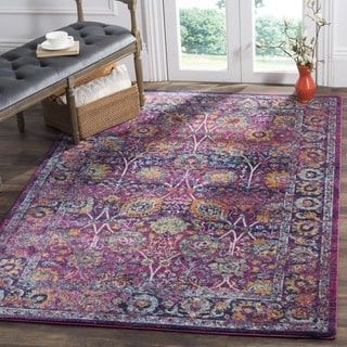 For Safavieh Granada Vintage Bohemian Fuchsia Multi Distressed Rug 5 1 X