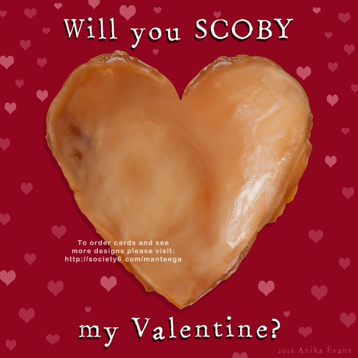 Will You SCOBY My Valentine?  Free valentine for online sharing. Copy/paste at will! | www.manteega.com