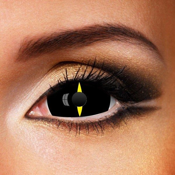 BLACK YELLOW SPEAR SCLERA 22MM CONTACT LENSES