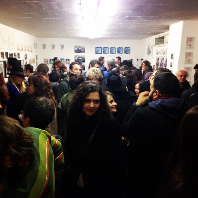 #opening #circoloquadro #exhibition #dolly #drawing #engraving #fineart #sheep #milan #picoftheday #instaart #instadaily #instacool #people