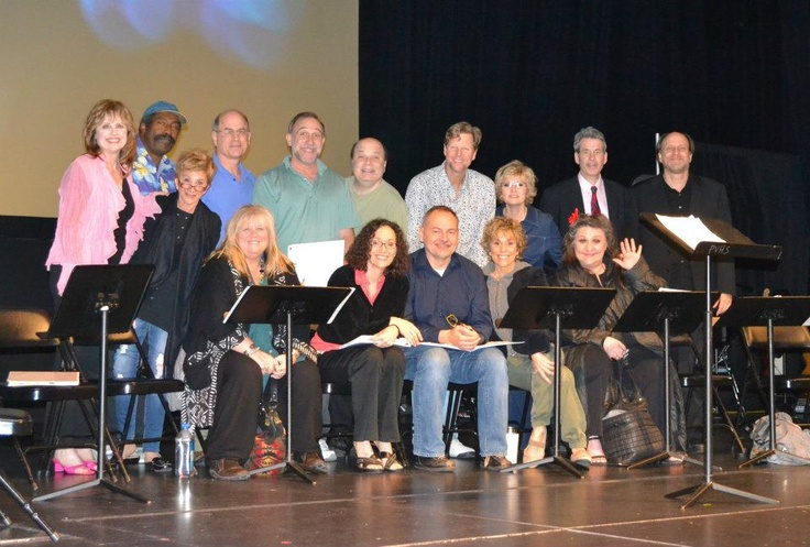 BOYNTON BEACH CLUB: A NEW MUSICAL IN CONCERT at Park Vista Theatre. Bottom Row: Barbara Minkus, Heather MacRae, Barbara Walsh, Scott Burkell, Joan Barber, Nora Mae Lyng. Top Rows: Janice Lynde, Cliff Townsend, Mark Zimmerman, Stephen Berger, Jerold Goldstein, Alan Campbell, Bethe B. Austin, Michael Colby, Ned Paul Ginsburg.