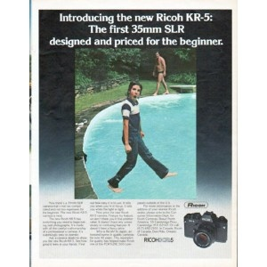1979 Ricoh Camera Ad the new Ricoh KR-5