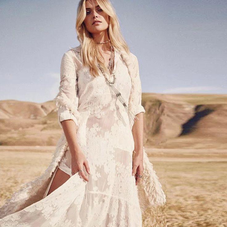 Женщины одеваются белый Макси Платье Цветочные кружева С Длинным Рукавом Платье Сарафан BOHO лето сексуальная Хиппи шик женщины vestidos Бренд Одежды купить на AliExpress