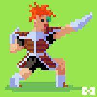 "Harmonie (@HarmonieGames) | Twitter  Harmonie Games, Pixel Art : ""Recoom"" from Dragon Ball Z"