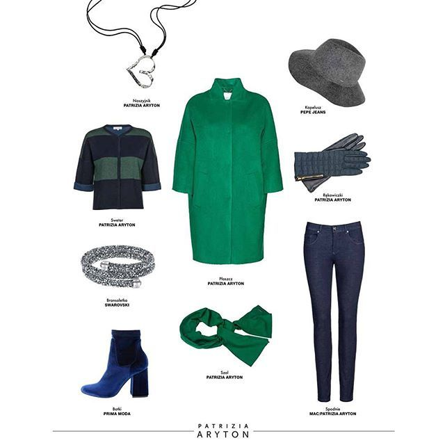 Outfit of the day #patriziaaryton #aryton #womenfashion #fashion #newcollection #emeraldgreen #line #aw16 #autumn #fall #winter #polishbrand #coat #cashmere #wool #sweater #jeans #navy #green #color #ootd
