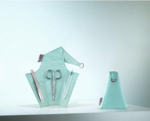 """Nagelpflege-Etui """"Tiffany Blue"""" mit Pinzette, Nagelschere und sanfter Glasnagelfeile - Rubis Switzerland"""
