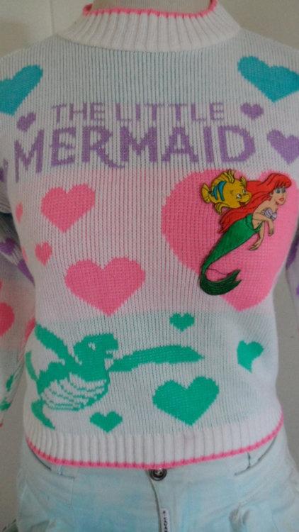 Vintage Little Mermaid Sweater