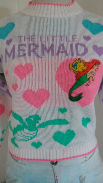 Vintage Little Mermaid Sweater - I swear, I think I had this sweater!
