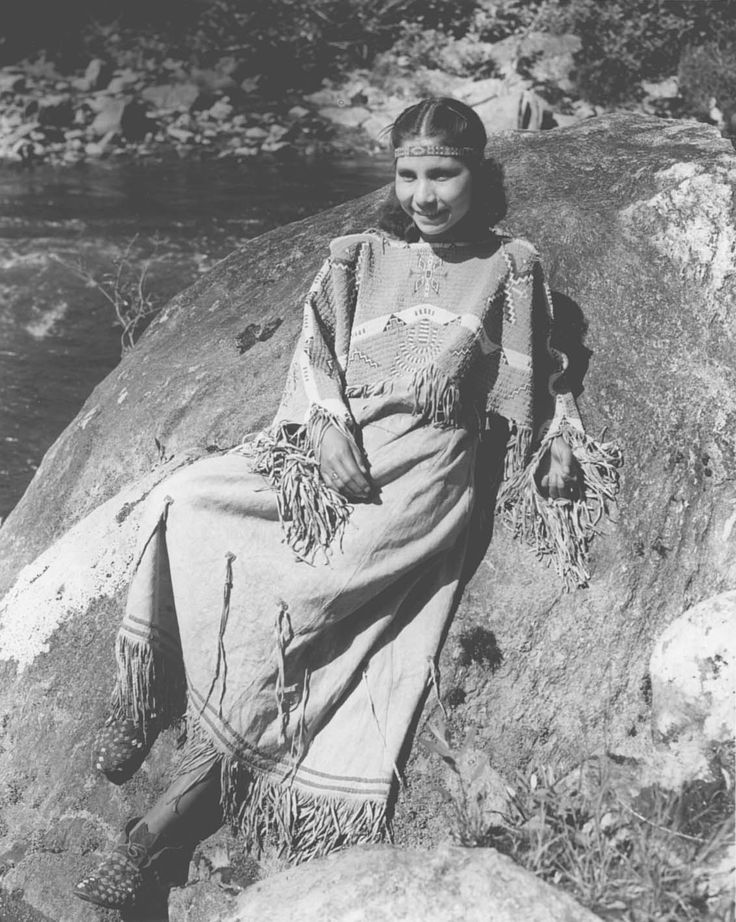 Mrs. June Welch, a Cherokee Indian, in traditional costume. 1939